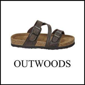OUTWOODS Kids Bork-41 Toe Wrap Sandal Black
